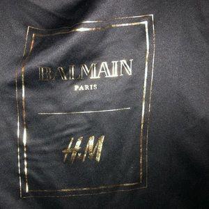 Balmain and H&M collab satin garment bag